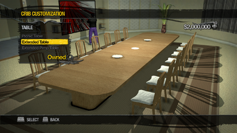 Saints Row Mega Condo - Crib Customization - Table - Extended Table