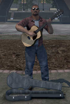 Civilian action node - guitar player