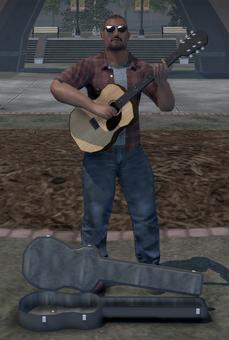 Civilian action node - guitar player