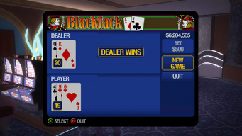 Blackjack - Dealer wins