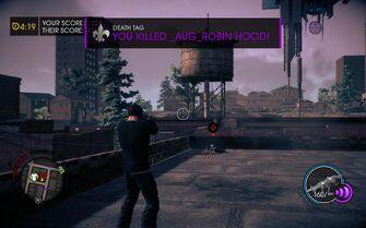 Death Tag kill message in Saints Row IV
