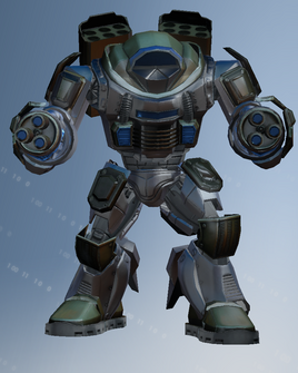 Mech suit character model - front in Saints Row IV