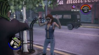 Mugging - Civilian with arms raised in Saints Row 2