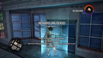 Pimp Outfit unlocked in Saints Row 2