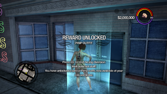 Pimp Outfit unlocked in Saints Row 2