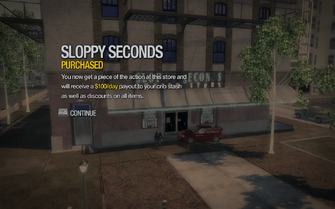 Sloppy Seconds in Cecil Park purchased in Saints Row 2