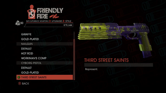 Weapon - SMGs - Rapid-Fire SMG - Cyborg Pistol - Third Street Saints