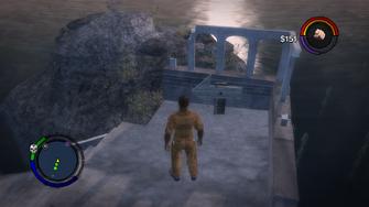 Cabbit - Step 1 - Ruin Island arrow location