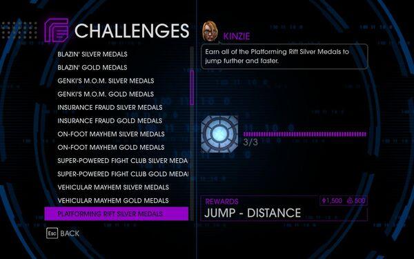Challenge 22 Platforming Rift Silver Medals