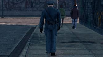 Steelport Police officer - rear