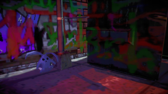 Cabbit outside the purgatory in Johnny Gat's Simulation in Saints Row IV