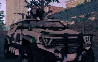 Cyrus in an N-Forcer in Saints Row IV