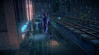 Playa performing a Super Jump in Saints Row IV