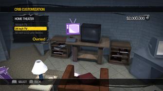 Red Light Loft - Crib Customization - Home Theater - 24 inch TV