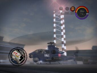 SWAT Tornado taking off in Saints Row 2