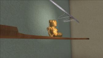 Lopez Mansion bear after shot