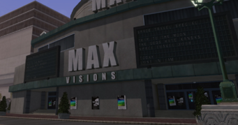 Max Visions exterior with view of play list