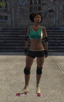Rollerskater - black1 - character model in Saints Row