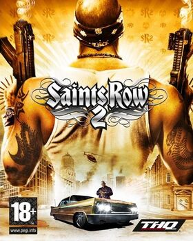 Saints Row 2 box art with logos
