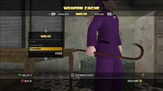 Saints Row Weapon Cache - Melee - Crowbar