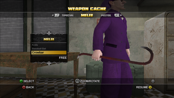 Saints Row Weapon Cache - Melee - Crowbar
