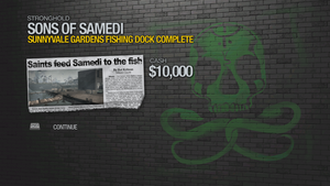 Sunnyvale Gardens Fishing Dock - complete 10000 cash