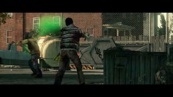 Zombie Attack - zombies and canister in cutscene