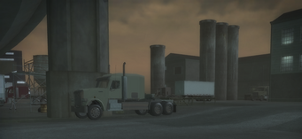 Drug Factory - parked trucks in Saints Row 2