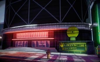 Kingdom Come Records exterior in Saints Row IV