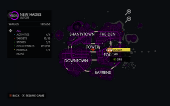 Map interface in Gat out of Hell