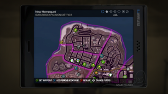 Suburbs Expansion map in Saints Row 2