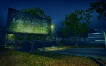 The Mills in Saints Row 2 - Legal Lee Samedi graffiti billboard