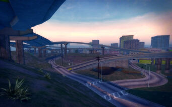 The Mills in Saints Row 2 - overpasses