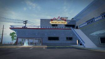 Charred Hard Burgers in Stilwater Boardwalk - west side