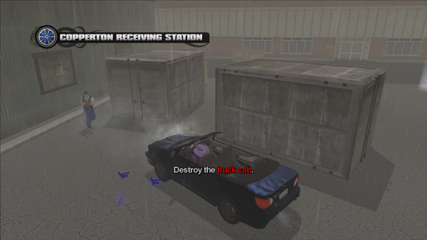 Copperton Receiving Station - Destroy the truck cab