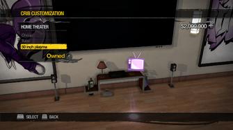 Hotel Penthouse - Crib Customization - Home Theater - 50 inch plasma