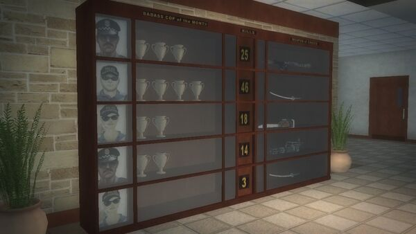 Police Headquarters - Trophy case