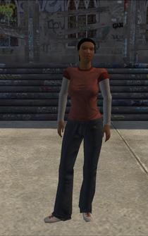 Poor female - black poor female - character model in Saints Row