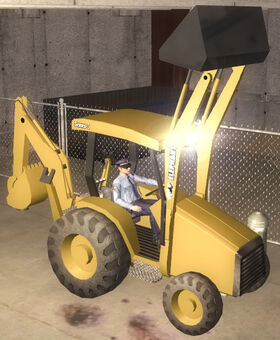 Backhoe - Crowd Up variant - front right in Saints Row 2
