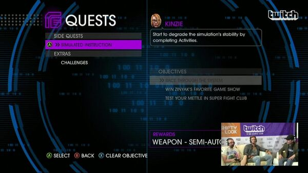 Side Quests - Simulated Instruction