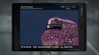 Suburbs Dock - map marker