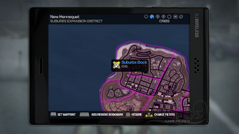 Suburbs Dock - map marker