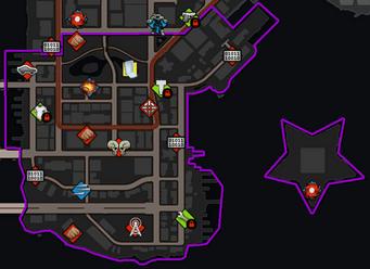Sunset Park map in Saints Row IV