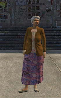 OldWoman - asian - character model in Saints Row