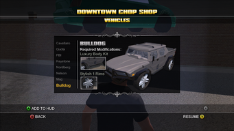 Saints Row Chop Shop - Downtown - Bulldog