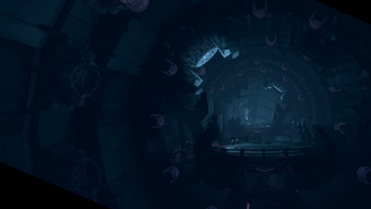 Saints Row IV Main Menu background - Zin mothership interior