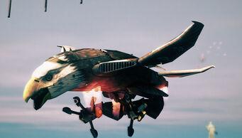 Screaming Eagle - front left in flight