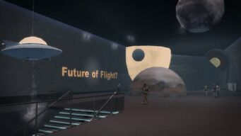 Stilwater Science Center in Saints Row 2 - Future of Flight sign