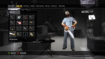 Chainsaw in the Weapons Cache