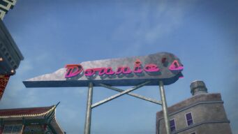 Donnie's sign in Saints Row 2